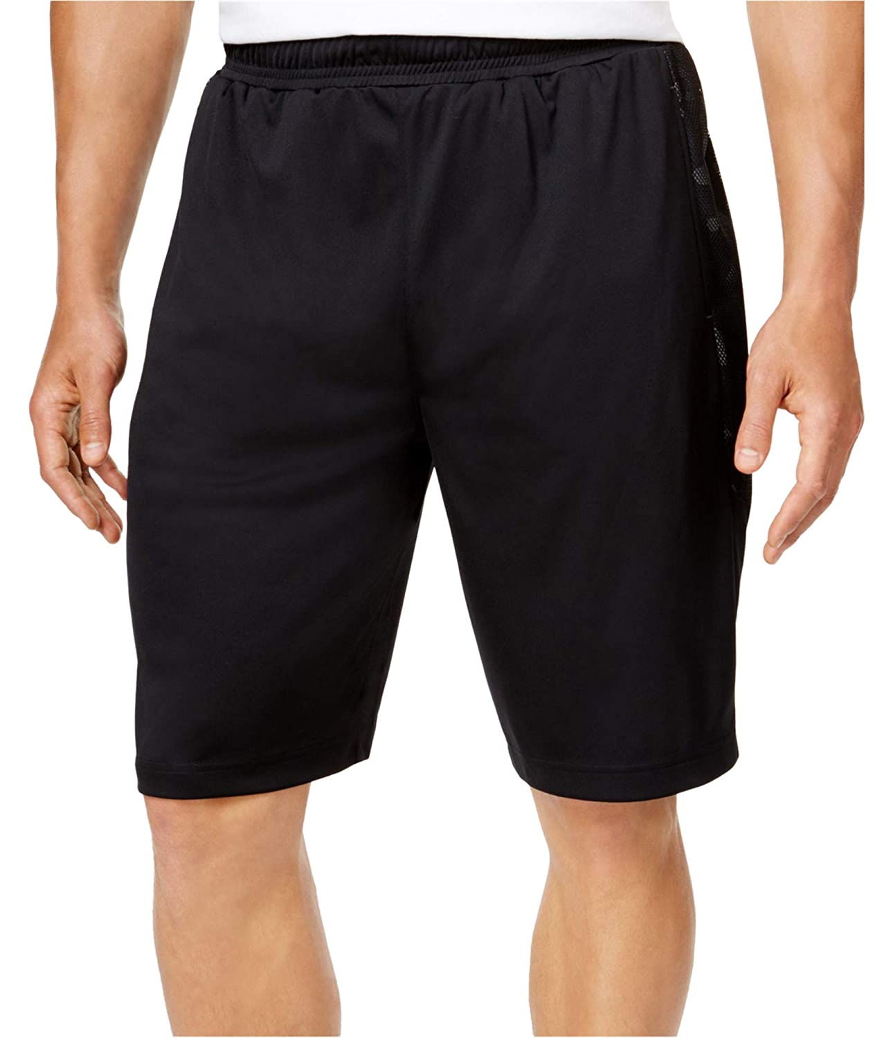 Ideology Mens Camo Insert Athletic Workout Shorts