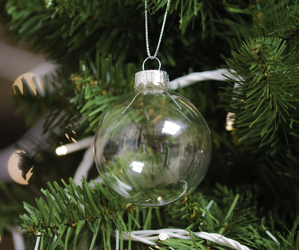 SW Wholesale 12 Bolas de Navidad de Cristal Transparente 6 cm Decoraci/ón de /árbol
