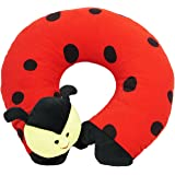 Ultra Soft Beetle Travel Neck Cushion Pillow, Red (14 inch)