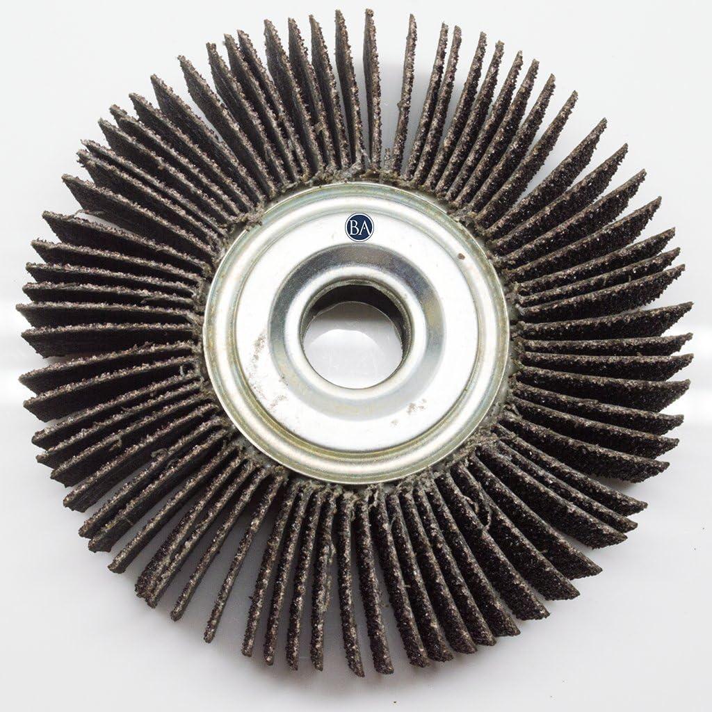 40 Grit Benchmark Abrasives 6 x 1//2 x 1 Center Hole Flap Wheel