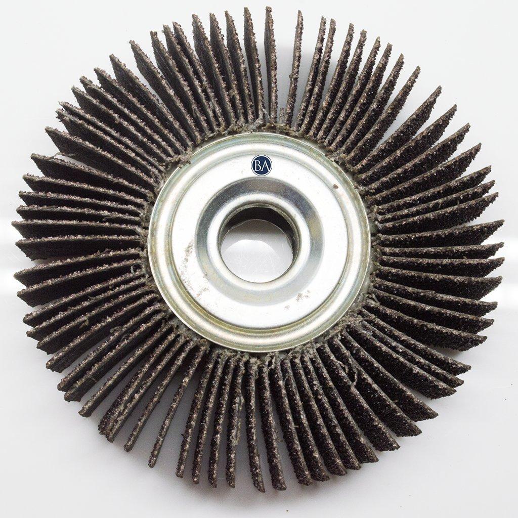 Benchmark Abrasives Center Hole Flap Wheel 4 x 1 x 5//8 60 Grit