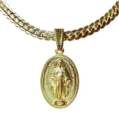 c18b7175c8c1 Amazon | [P-Rize] 聖母マリアペンダントネックレス デザイン加工の ...