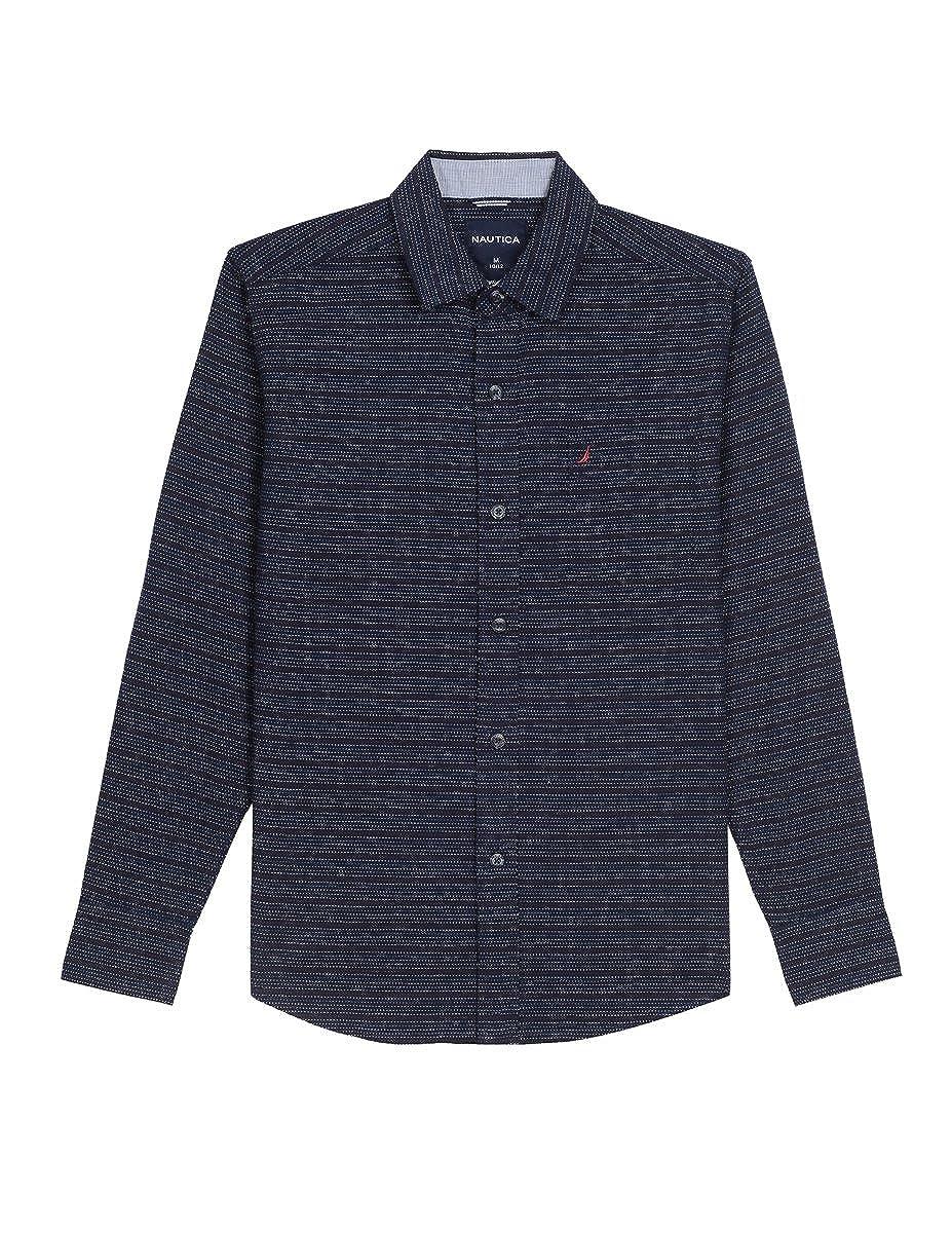 Nautica Boys Long Sleeve Printed Woven Shirt