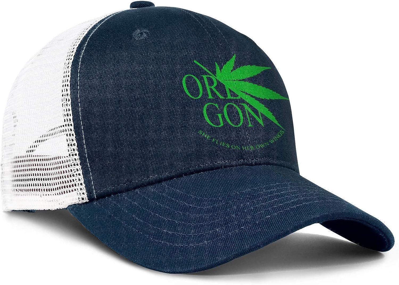 Oregon Cannabis Men//Women Street Dancing Snapback Cap Trucker Caps