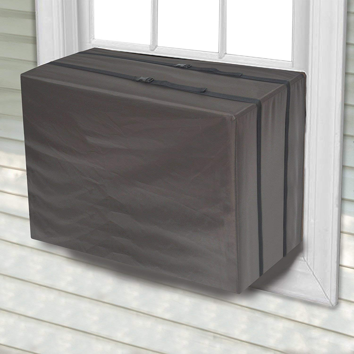 "Gizwise Outdoor Window Air Conditioner Cover Winter AC Unit Defender Bottom Covered (Large (27""W x 25""D x 19""H))"