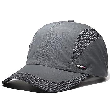 LAOWWO Sombrero de Gorra de Béisbol, Secado Rápido Delgado Gorra de Running Golf Deportes Gorros para El Sol para Hombres Mujeres: Amazon.es: Deportes y ...