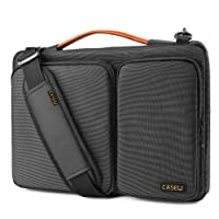 CASE U Polyester 13.3-inch 360 Degree Protective Black Laptop Bag