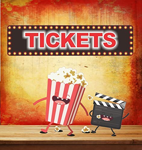 Tickets Novelty Home Movie Theater Sign With Flashbulb Lights Effects Border