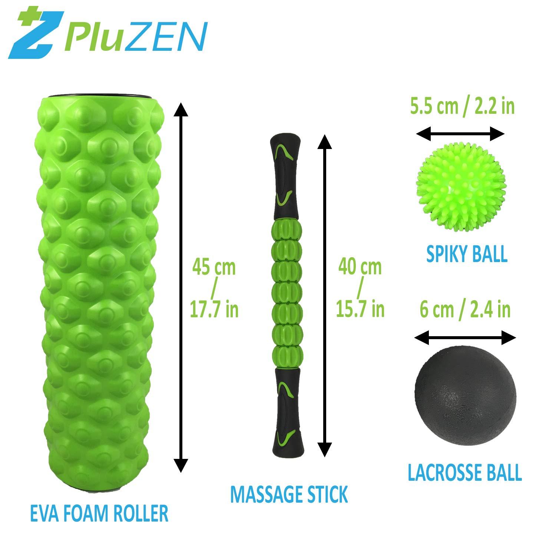 RULLO in schiuma iuga e Massaggio Stick 2 in 1 Set per tessuti profondi muscolare.