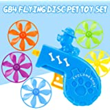 GB4 Cat Fetch Toy - Cat Tracks Cat Toy - Fun Levels of Interactive Play -Cat Toys with 5 Colors Flying Propellers Satisfies Kitty's Hunting, Chasing & Exercising Needs (Blue)