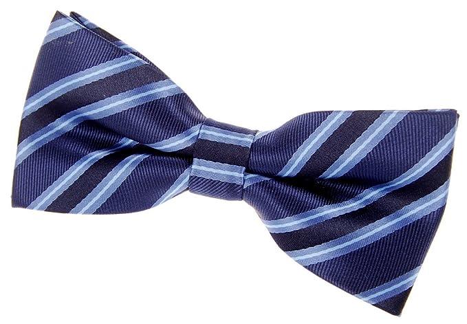 Retreez Preppy Stripe Pattern Woven Microfiber Pre-tied Boys Bow Tie