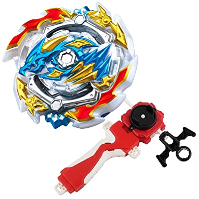 Bey Burst Evolution Turbo Battling Tops Blade God Bey with Lr Launcher Grip Spryzen Starter Set B-133 Booster ACE Dragon.st.Ch Attack Gyro Bay Battle Gaming Tops Novelty Spinning Toy Gift for Boys: Toys & Games