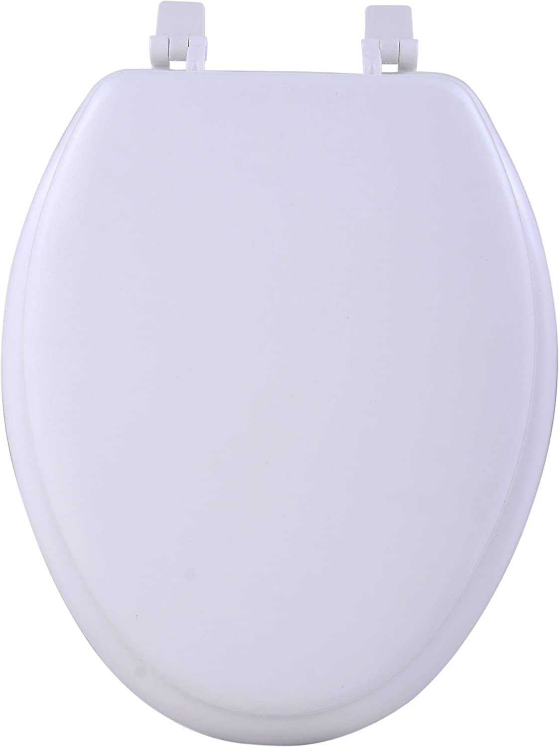 Achim Home Furnishings White TOVYELWH04 19-Inch Fantasia Elongated Toilet Seat, Soft