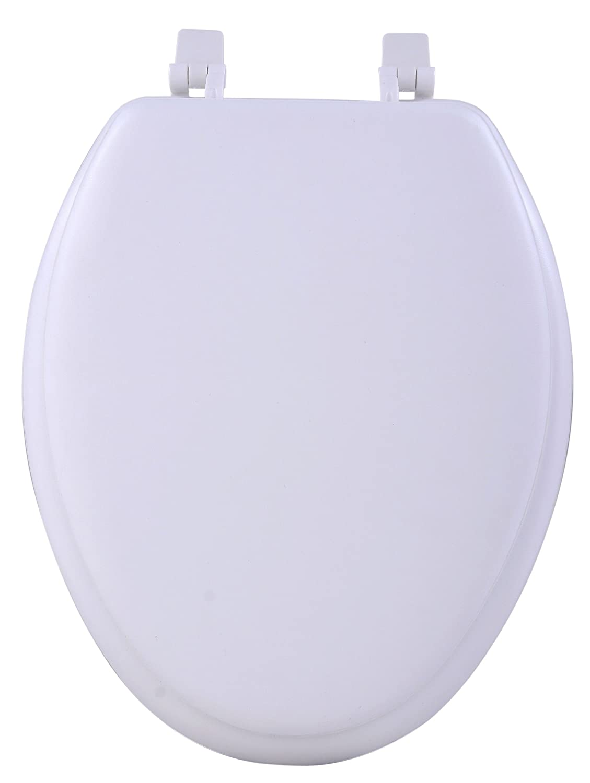 Achim Home Furnishings TOVYELWH04 19 Inch Fantasia Elongated Toilet Seat  Soft White Amazon com