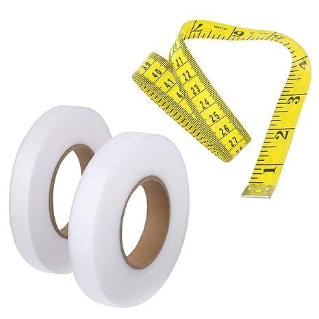 2 rollos de cinta adhesiva de 140 yardas con dobladillo para ...