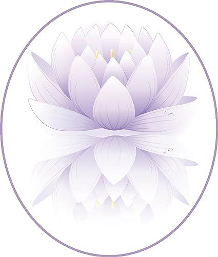 Amazoncom Pretty Purple Ombre Lotus Flower Drawing Icon Vinyl
