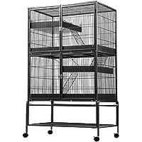 Bird Cage Parrot Aviary Pet Stand Budgie Perch Castor Wheels 93x 63.5x160cm