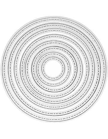 8 Unids Círculo de Metal Plantillas de Troqueles De Corte Decoración Troquelados Carpeta de Grabación En