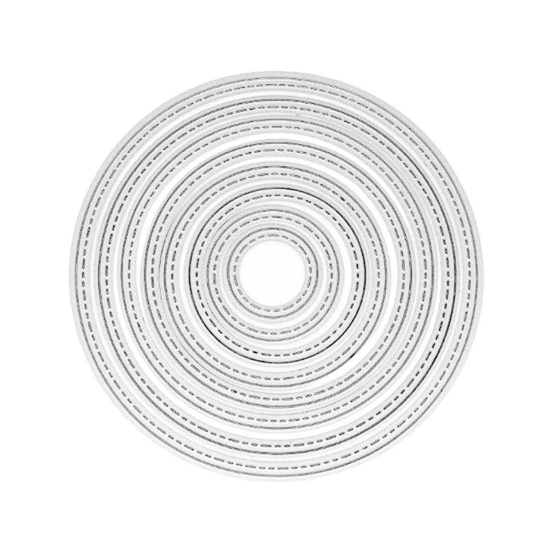 8Pcs Circle Metal Cutting Dies Stencils Decoration Die Cuts Embossing Folder Template Craft Luwu-Store