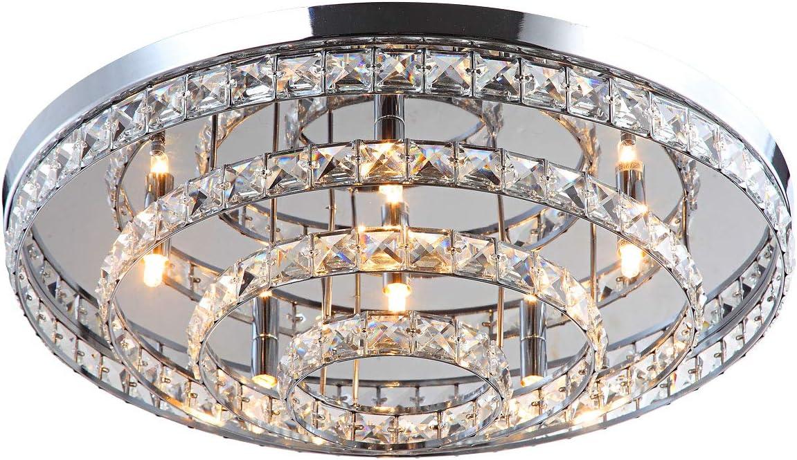 XL Deckenleuchte Kristall Led Kronleuchter Deckenlampe Lüster Wohnzimmer Licht