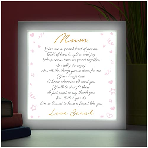 PERSONALISED POEM for Mum Mummy Nanny Nan Mothers Day Gift Birthday ...