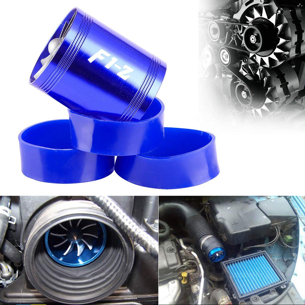 Air Intake Fuel Saver Fan Blue Mookis F1-Z Double Turbo Turbine Charger