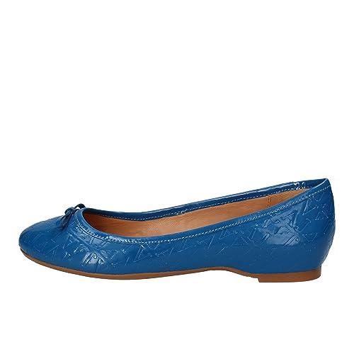 Armani Jeans Ballerine Donna Pelle Verniciata Blu 36 EU  Amazon.it  Scarpe  e borse 9a39c96c0c8