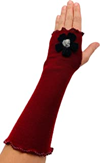 product image for Jack & Mary Designs Fit & Flare Fingerless Gloves with Flower - Made in the USA