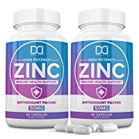 Zinc Vitamin Supplements 50mg for Immune Support Booster, Zinc Picolinate for Adults...
