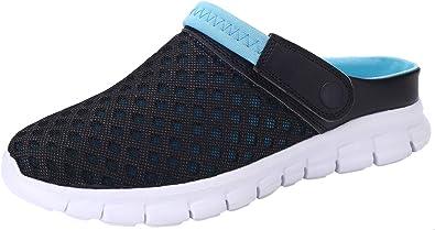 ChayChax Zuecos Mujer Hombre Zapatillas de Playa Respirable Sandalias Verano de Malla Ligeros Antideslizante Clogs Zapatos de Jardin: Amazon.es: Zapatos y complementos