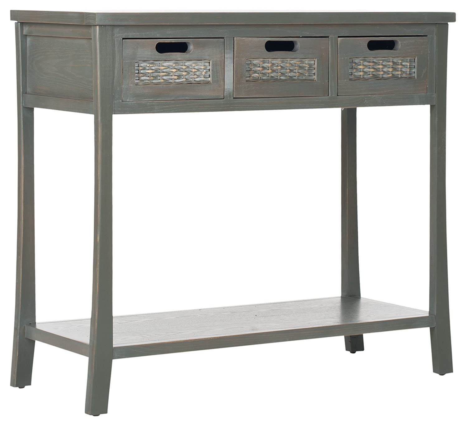 Amazon safavieh american homes collection autumn 3 drawer amazon safavieh american homes collection autumn 3 drawer console table blue grey kitchen dining geotapseo Choice Image