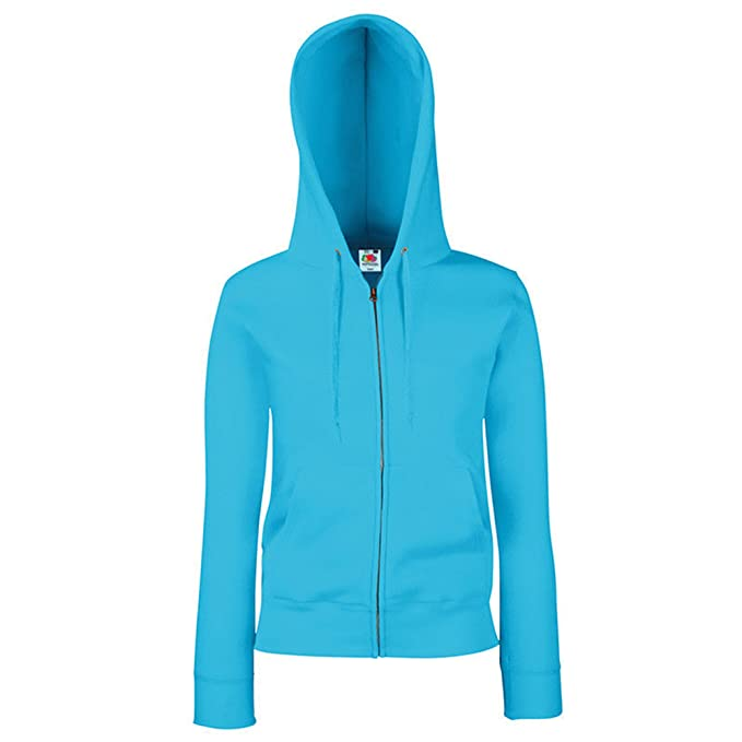 Fruit of the Loom - Sudadera - para mujer Azul Azure Blue X-Small