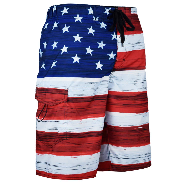 ec1883cb35 VBRANDED Men's American Flag Patriotic Board Shorts (Assorted Designs) |  Amazon.com