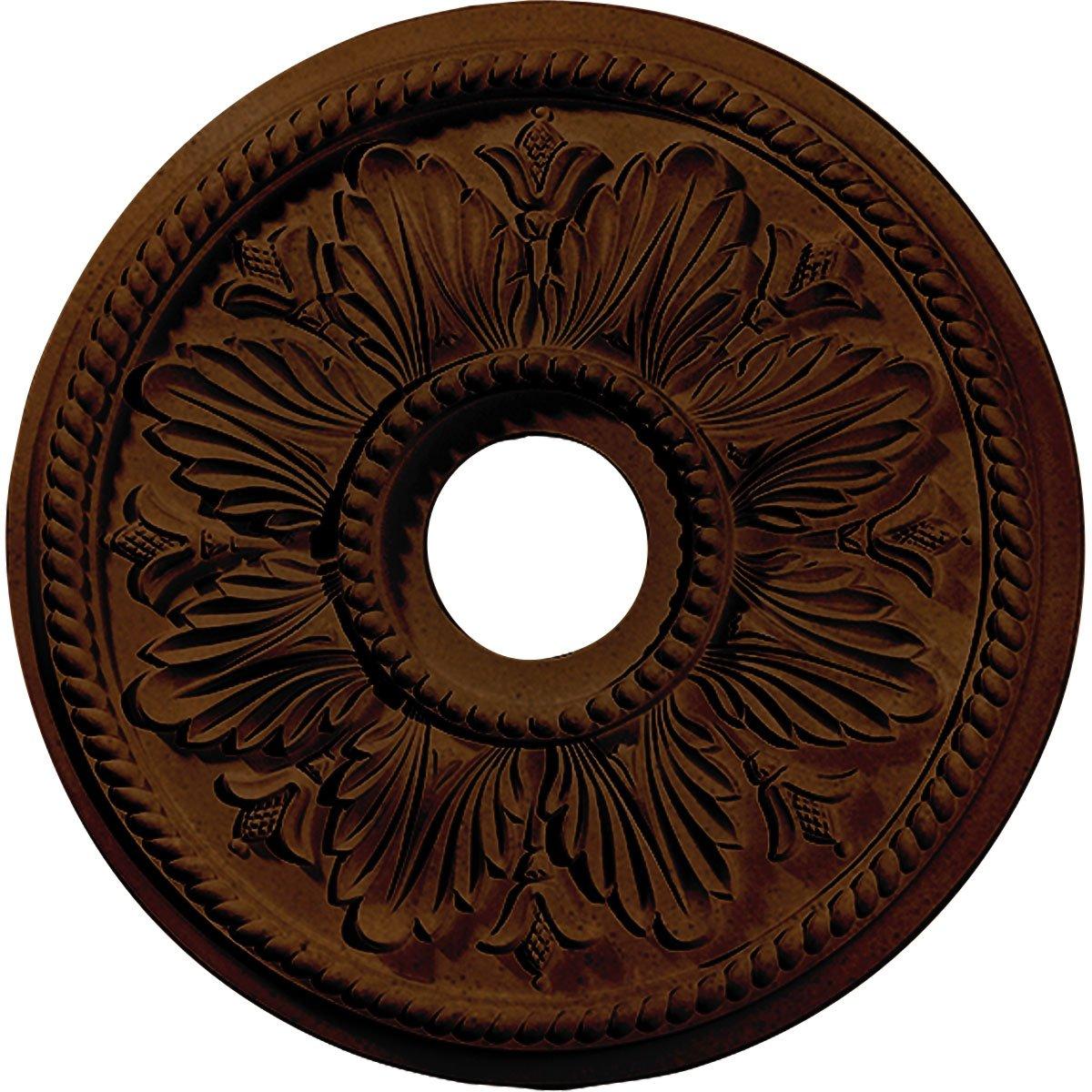 Ekena Millwork CM18ED1RZS Edinburgh Ceiling Medallion, Rubbed Bronze