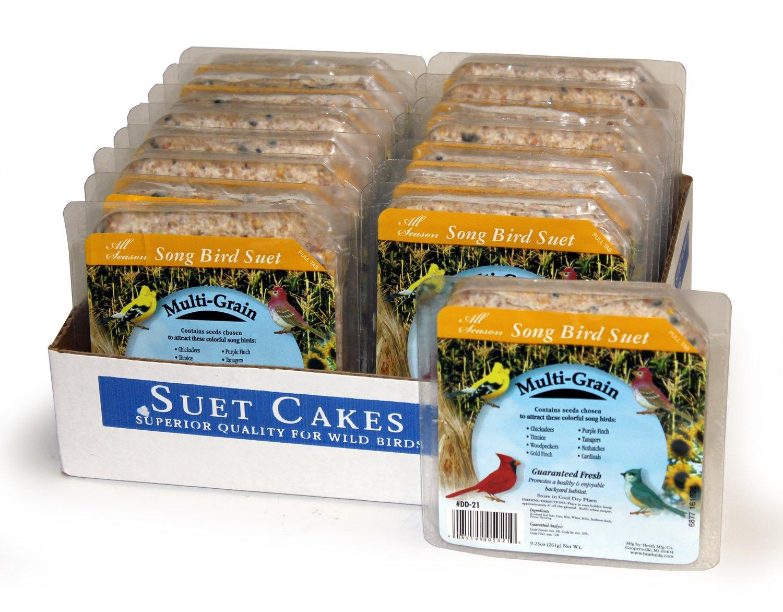 Heath Outdoor Products DD-21 Multi Grain Suet Cake, Case of 16