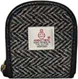 Ladies or Gents Traditional Harris Tweed and Leather Coin Purse Choice of Colours