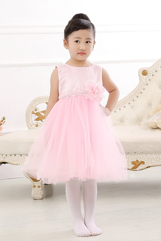 Amazon.com: Merry Day Flower Little Girl Party Dress Girls Elegant ...