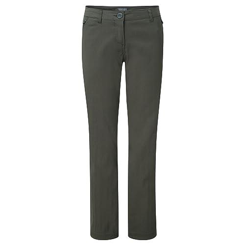 Craghoppers – Pantalones elásticos modelo Kiwi para mujer (38L/Caqui)