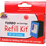 Turbo Refill Kit for hp 22 color ink cartridge