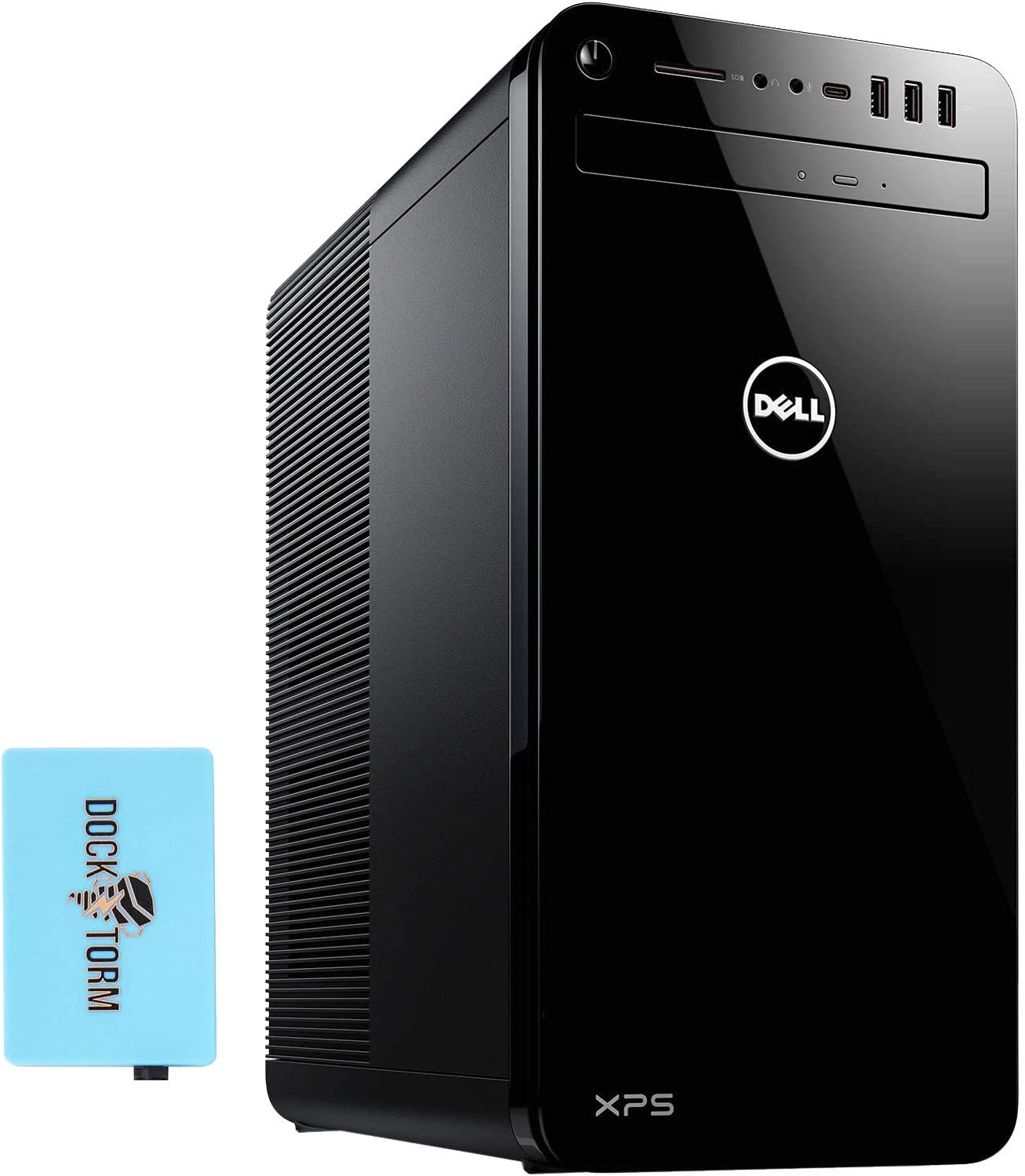 Dell XPS 8930 Home and Business Desktop (Intel i7-9700 8-Core, 32GB RAM, 2TB SATA SSD, NVIDIA GTX 1650, WiFi, Bluetooth, 6xUSB 3.1, 1xHDMI, 1 Display Port (DP), SD Card, Win 10 Home) with Hub