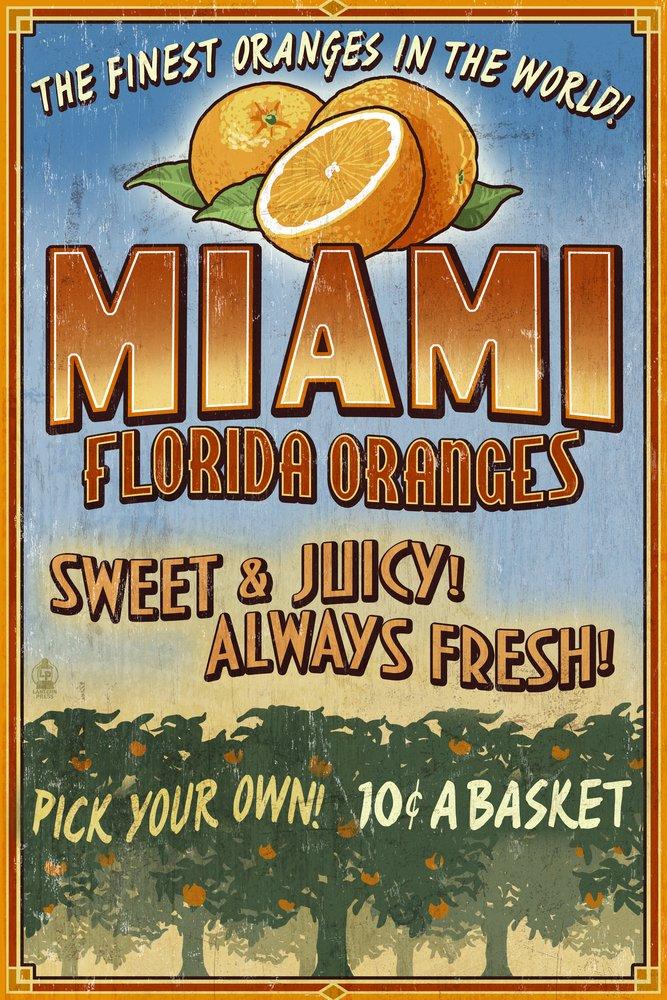 【半額】 マイアミ、フロリダ州 – オレンジGrove x Vintage Sign 36 x x 54 Print Giclee Print LANT-44310-36x54 B00N5CBUO0 12 x 18 Art Print 12 x 18 Art Print, 資生堂パーラー専門店マキアージュ:f0100bab --- rarspoliplas.com