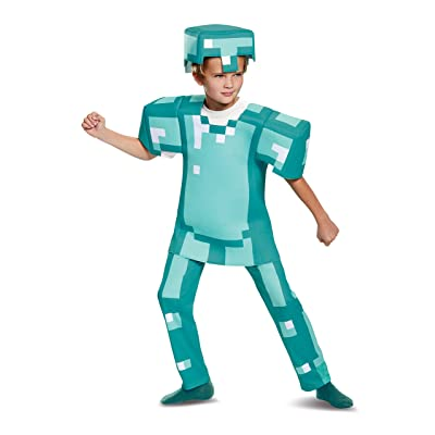 Armor Deluxe Minecraft Costume, Blue, Medium (7-8): Toys & Games