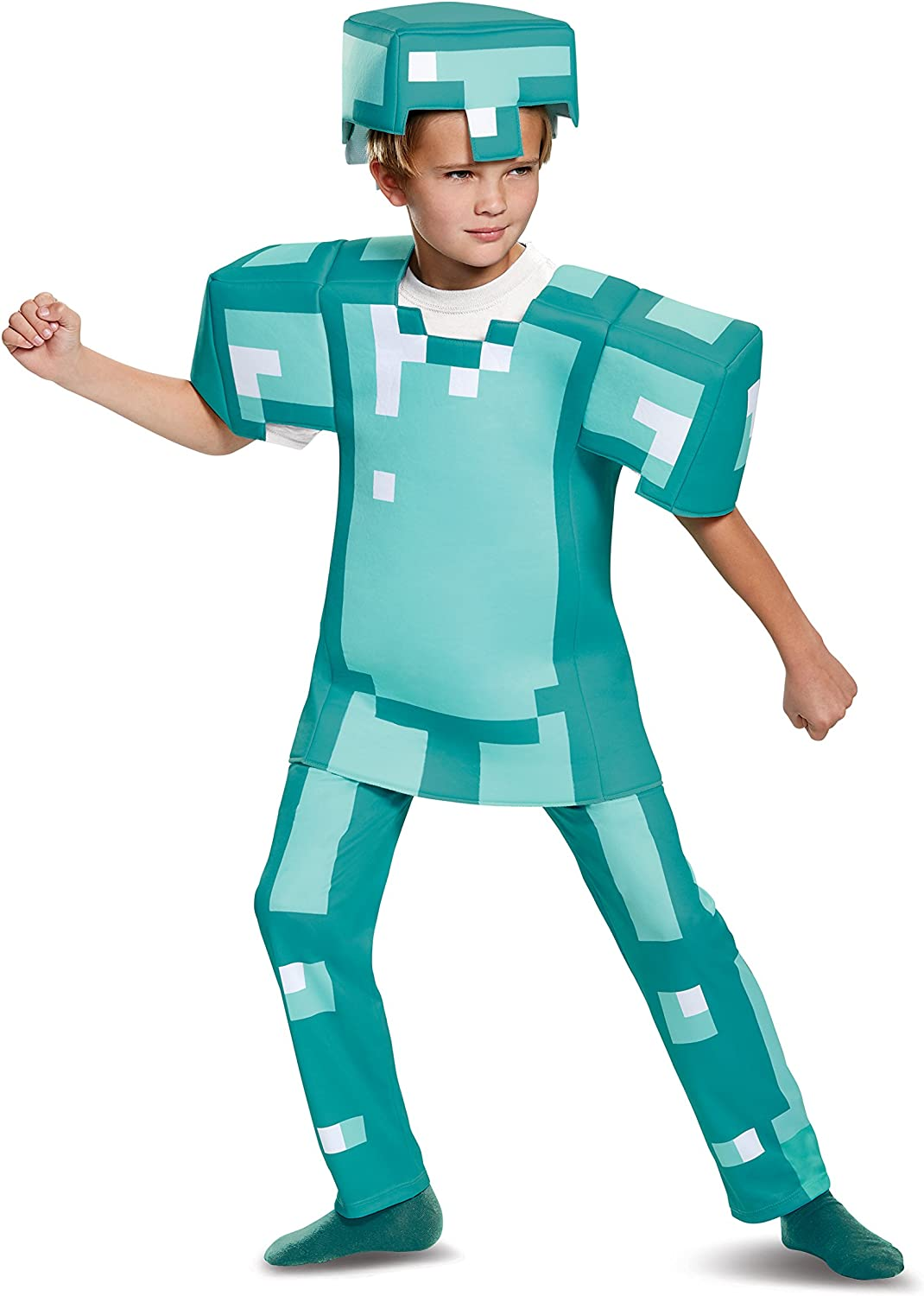 Armor Deluxe Minecraft Costume, Blue, Large (12-12)