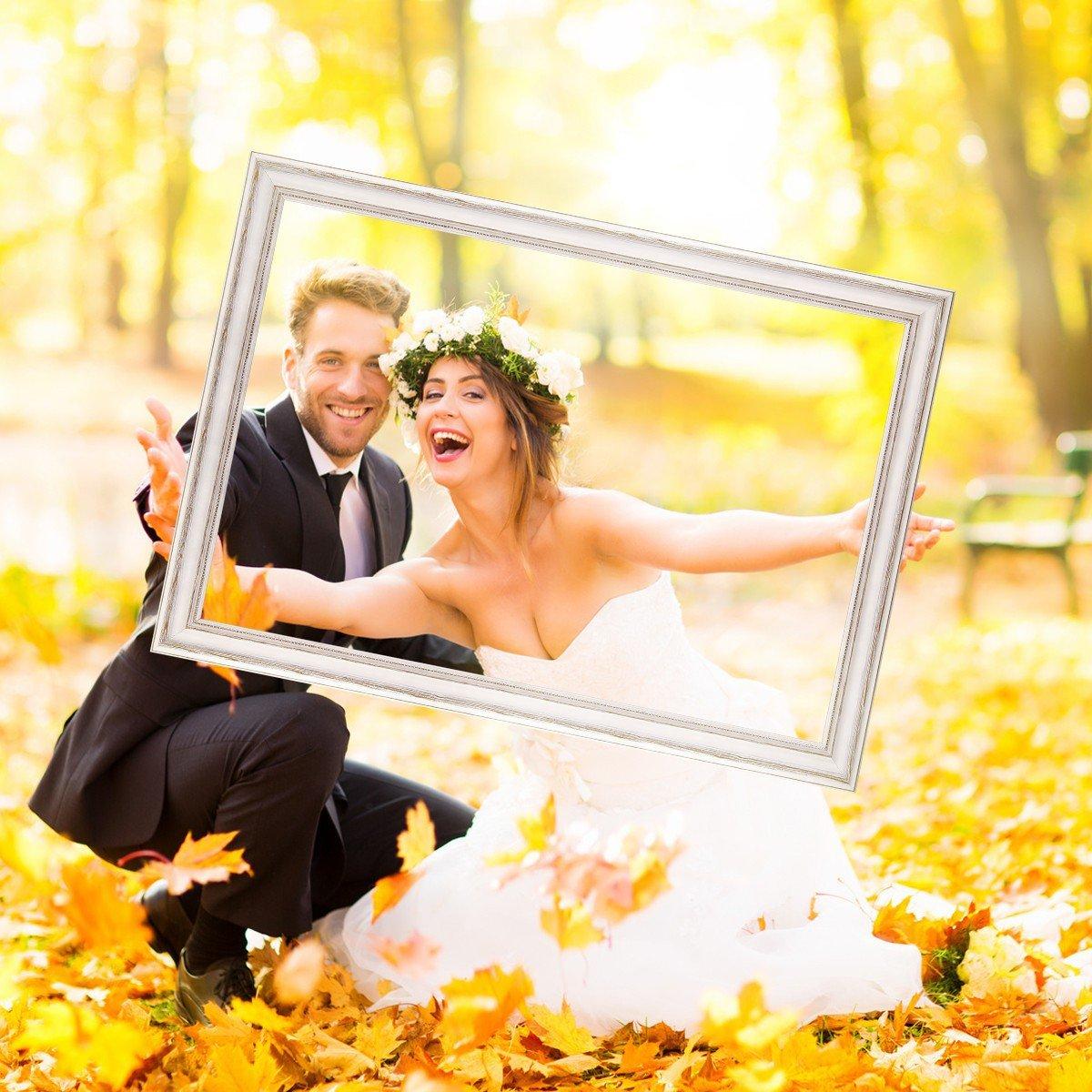 PHOTOLINI Hochzeit-Bilderrahmen für beeindruckende beeindruckende beeindruckende Hochzeitsfotos Hochzeitsspiele oder als Hochzeits-Rahmen und Photo-Booth Zubehör 40x60 cm Farbe Gold 073eed