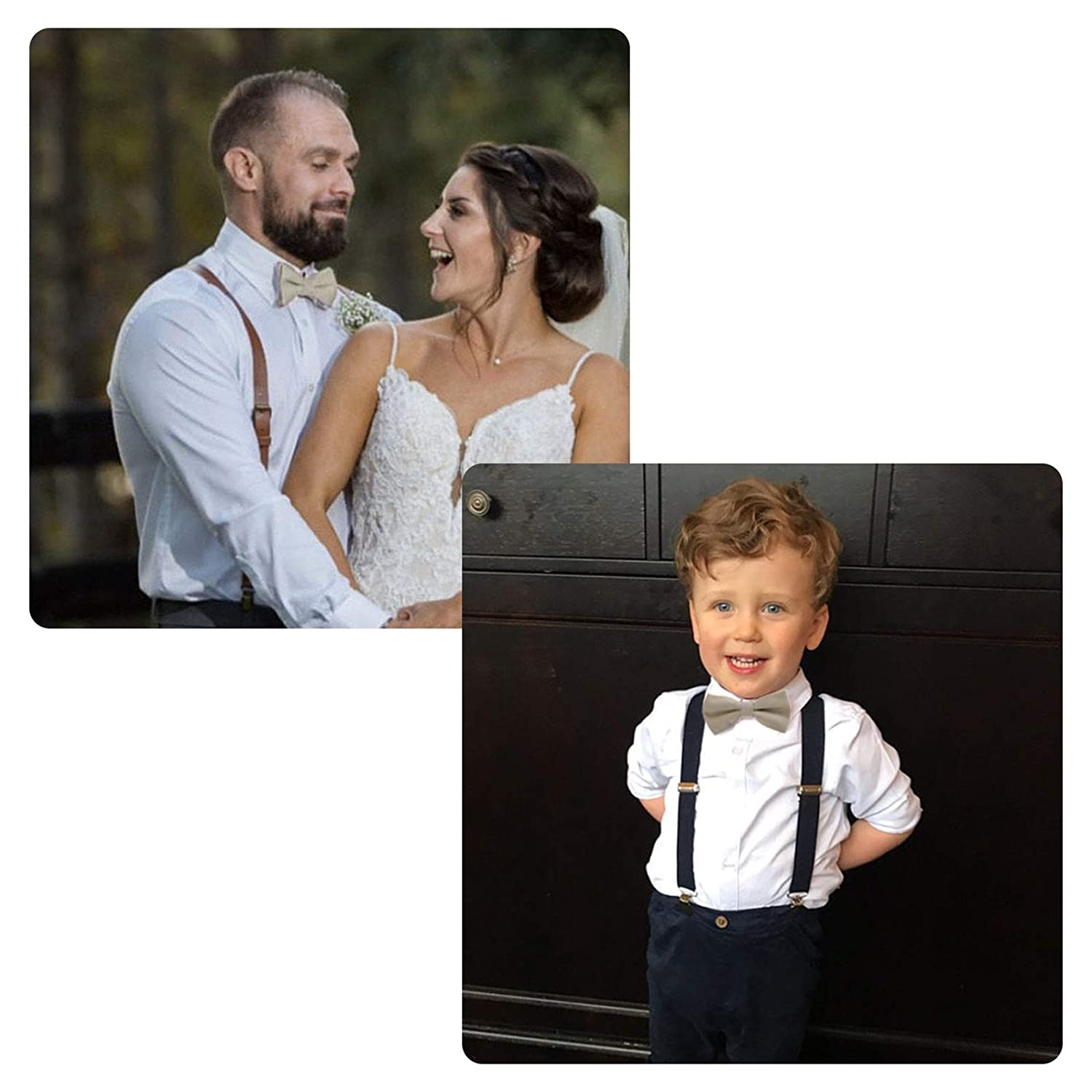 Classic Pre-Tied Bow Tie for Children /& Adults Solid Color Adjustable Bowtie Gabardine Material