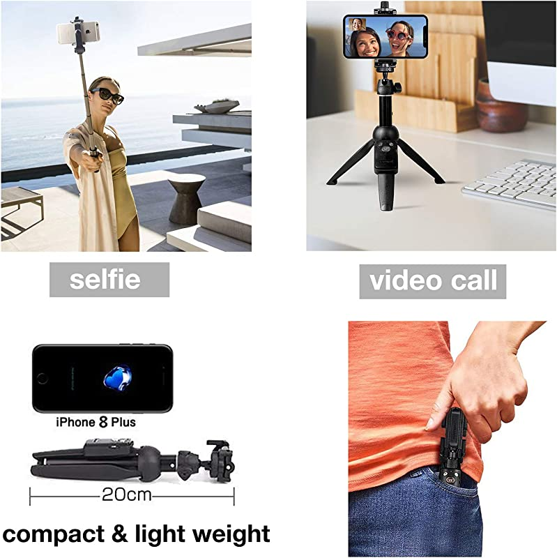 Bluehorn yunteng Joint Portable 40 Inch Aluminum Alloy Selfie Stick Phone Tripod with Wireless Remote Shutter