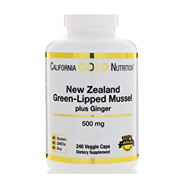 California Gold Nutrition, New Zealand Green-Lipped Mussel Plus Ginger, Joint Health Formula