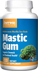 Jarrow Formulas Mastic Gum , Supports Stomach and Duodenal Health, 120 Tablets