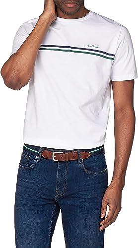 Ben Sherman - Camiseta de Manga Corta para Hombre (Talla 4XL a XXXL), Color Blanco Blanco Blanco XXL: Amazon.es: Ropa y accesorios