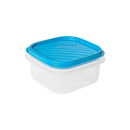 Tatay M284141 - Taper Cuadrado 0 3 litros Azul: Amazon.es: Hogar